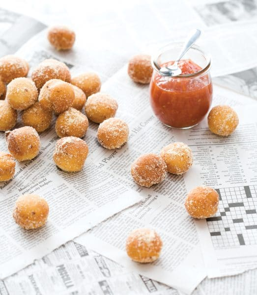 Parmesan Beignets from Breakfast for Dinner Cookbook (Quirk Books)