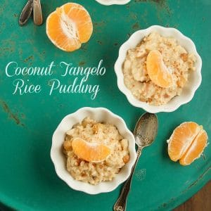 Creamy Coconut Tangelo Rice Pudding BoulderLocavore.com