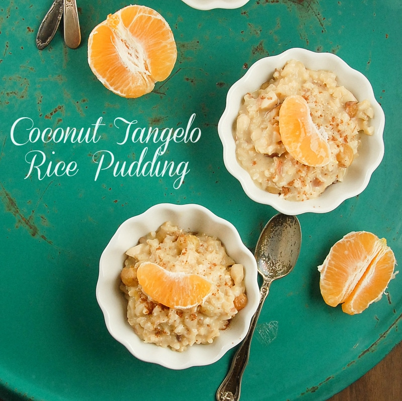 Creamy Coconut Tangelo Rice Pudding