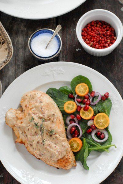 Pink Peppercorn Sherry Cream Sauce Chicken Breasts BoulderLocavore.com
