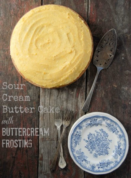 Sour Cream Butter Cake Buttercream Frosting BoulderLocavore