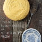 Sour Cream Butter Cake, DIY Burn Ointment & 'The Modern-Day Pioneer' Giveaway!
