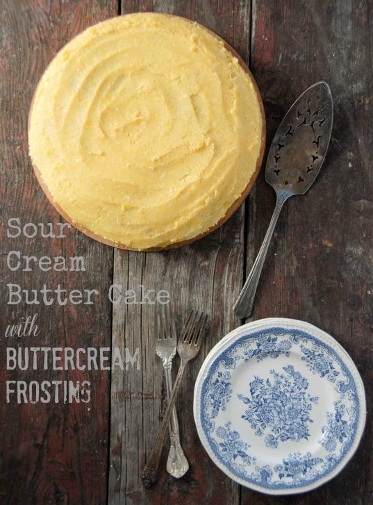 Sour Cream Butter Cake BoulderLocavore.com