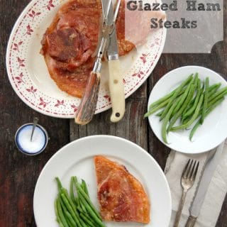 Pear Marmalade Glazed Ham Steaks