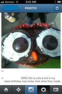 Owl Cupcake (Instagram) | BoulderLocavore.com