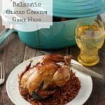 Golden Plum Glazed Cornish Game Hens