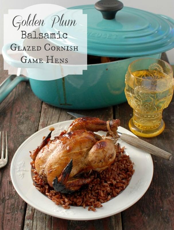 Golden Plum Glazed Cornish Game Hens