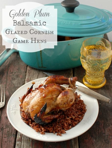 Golden Plum Balsamic Glazed Cornish Game Hens | BoulderLocavore.com 66-003