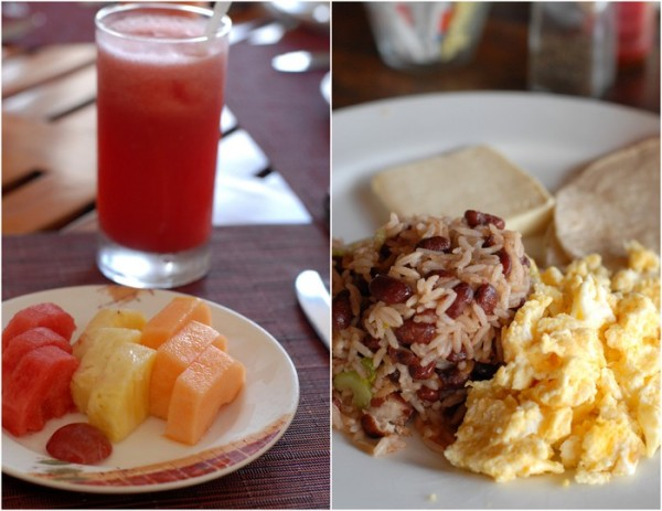 You may be surprised what you'll find that is gluten-free when you begin asking questions. When in Costa Rica we were thrilled to enjoy a 'Tico' (locals) breakfast daily of Gallo Pinto (beans and rice), corn tortillas, plantain and fresh tropical fruit. Can't beat that!
