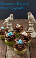 Chocolate Bird's Nest Cupcakes {gluten-free}