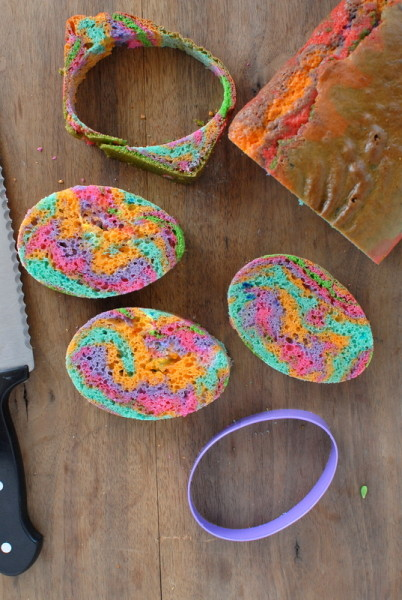 Cutting out Rainbow Eggs for Easter Cake | BoulderLocavore.com DSC_0547