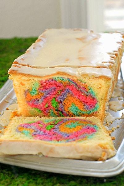 Hidden Easter Egg Pound Cake - BoulderLocavore.com