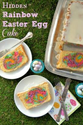 Hidden Rainbow Easter Egg Cake