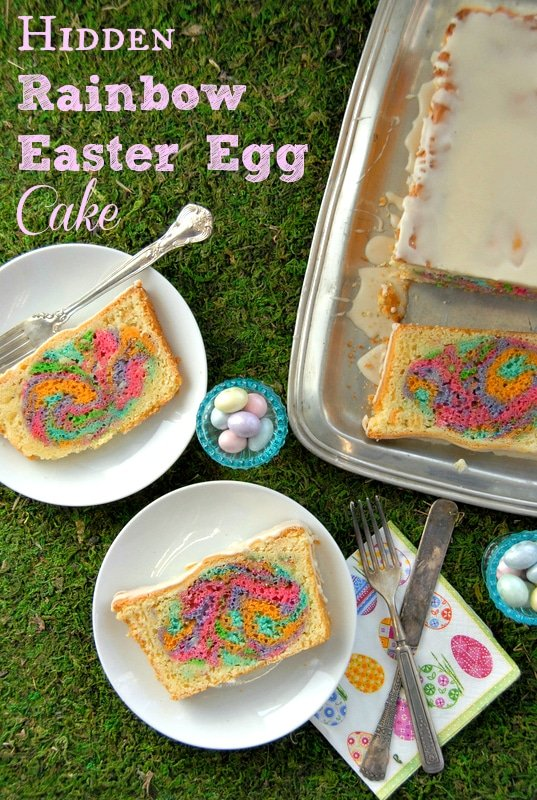 Hidden Rainbow Easter Egg Cake | BoulderLocavore.com
