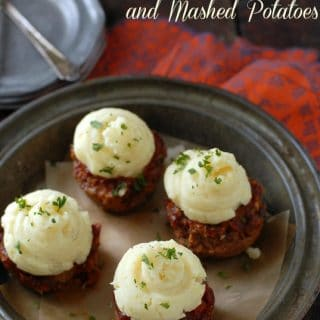 Muffin Tin Meatloaf with Mashed Potatoes