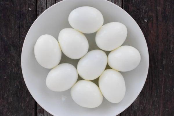 Peeled hard boiled eggs BoulderLocavore.com