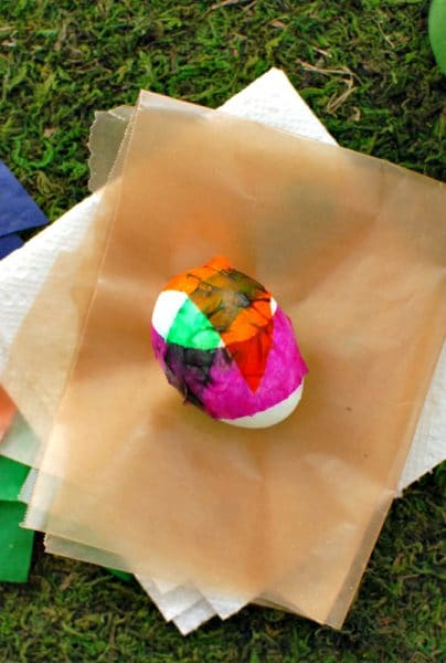 Tissue paper covered Easter Egg | BoulderLocavore.com