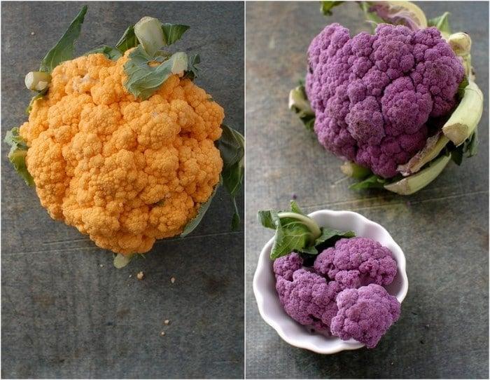 Orange and Purple Cauliflower   BoulderLocavore.com