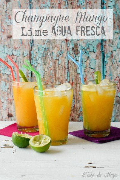 Champagne Mango-Lime Agua Fresca