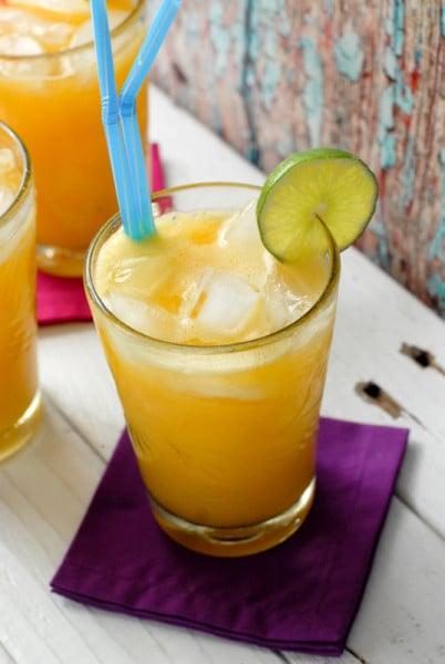 Champagne Mango-Lime Agua Fresca  with lime