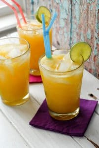Champagne Mango-Lime Agua Fresca with ice