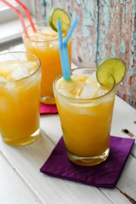 Champagne Mango-Lime Agua Fresca with ice