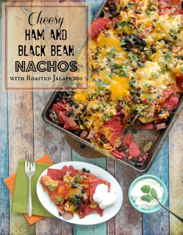 Cheesy Ham and Black Bean Nachos | BoulderLocavore.com