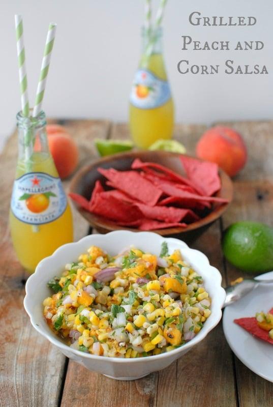 Grilled Peach and Corn Salsa | BoulderLocavore.com