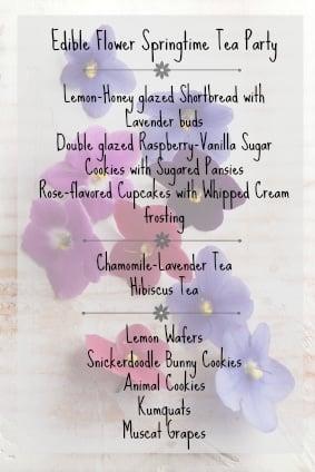 Edible Flower Springtime Tea Party Menu | BoulderLocavore.com