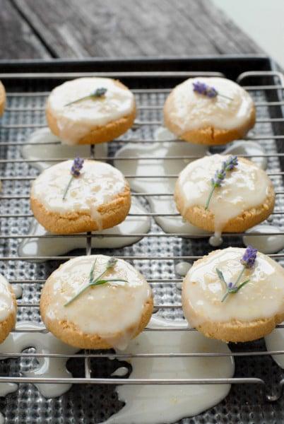 Sugar Cookie Lemon Glaze Lavender buds | BoulderLocavore.com