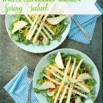 White Asparagus Arugula Spring Salad with Meyer Lemon White Balsamic Dressing