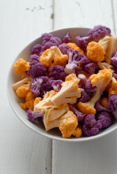 Purple and Orange Cauliflower | BoulderLocavore.com