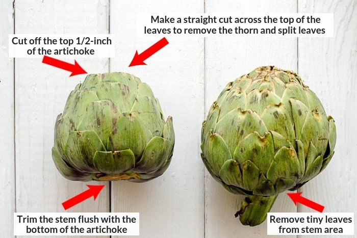 how to cut an artichoke photo
