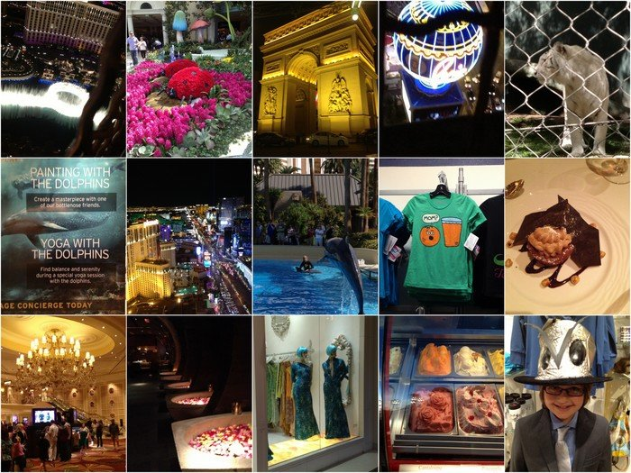 iPhoneography: An Instagram collage of some of the Vegas sights.