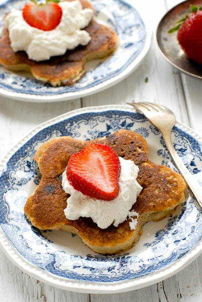 Fresh Strawberry Chocolate Chip Pancakes with Whipped Cream - BoulderLocavore.com