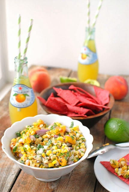 Grilled Peach and Corn Salsa -  BoulderLocavore.com
