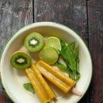 Mango-Kiwi Limeade Fruit Popsicles {Paletas}