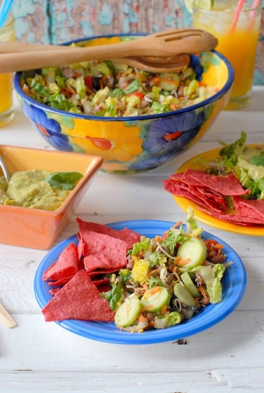Salad Ole with Avocado-Tequila-Lime Dressing | BoulderLocavore.com
