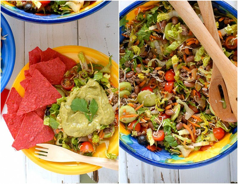 Salad Ole with Tequila-Avocado Dressing - BoulderLocavore.com