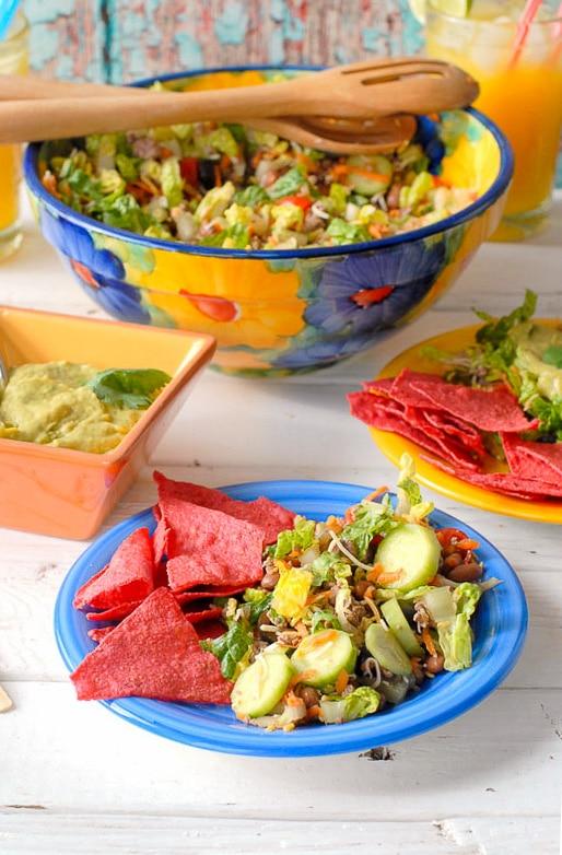 Salad Ole with Tequila-Avocado Dressing -  BoulderLocavore.com