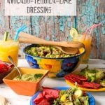 Salad Ole with Avocado-Tequila-Lime Dressing