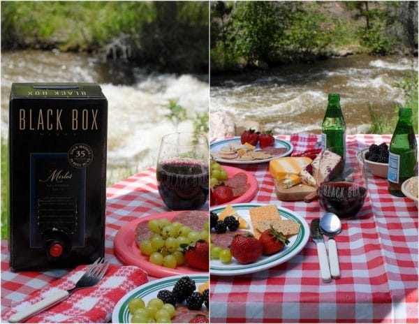 Mountain Picnic by river