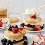 All American Berry Buttermilk Shortcakes - BoulderLocavore.com
