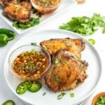 Grilled Chicken Thighs with Thai flavors
