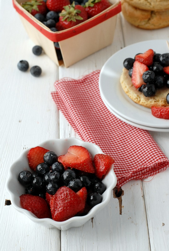 Macerated Strawberries and Blueberries - BoulderLocavore.com