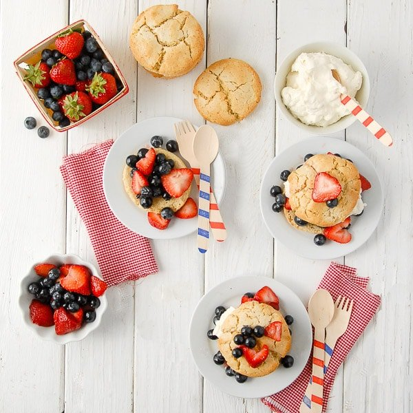 Red White & Blue Strawberrry Shortcake