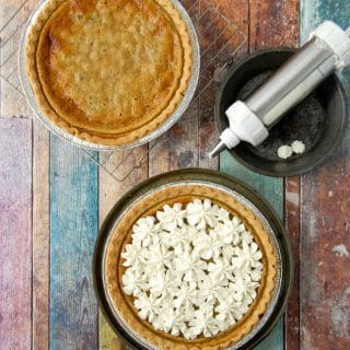 Sour Cream Raisin Pie with whipped cream