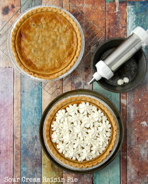 Sour Cream Raisin Pie | recipe at BoulderLocavore.com