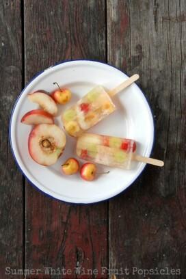 Summer White Wine Fruit Popsicles