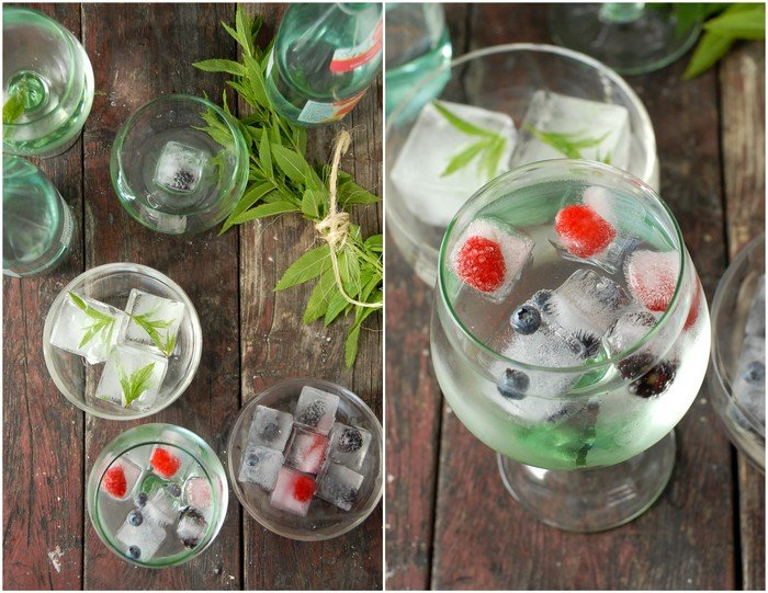 Fruit and Herb Ice Cubes | BoulderLocavore.com